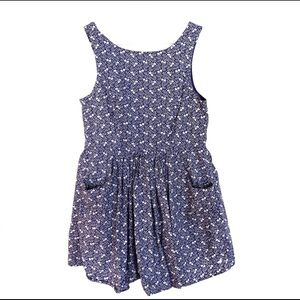 Jack Wills | Blue Floral Print A Line Tank Dress 8